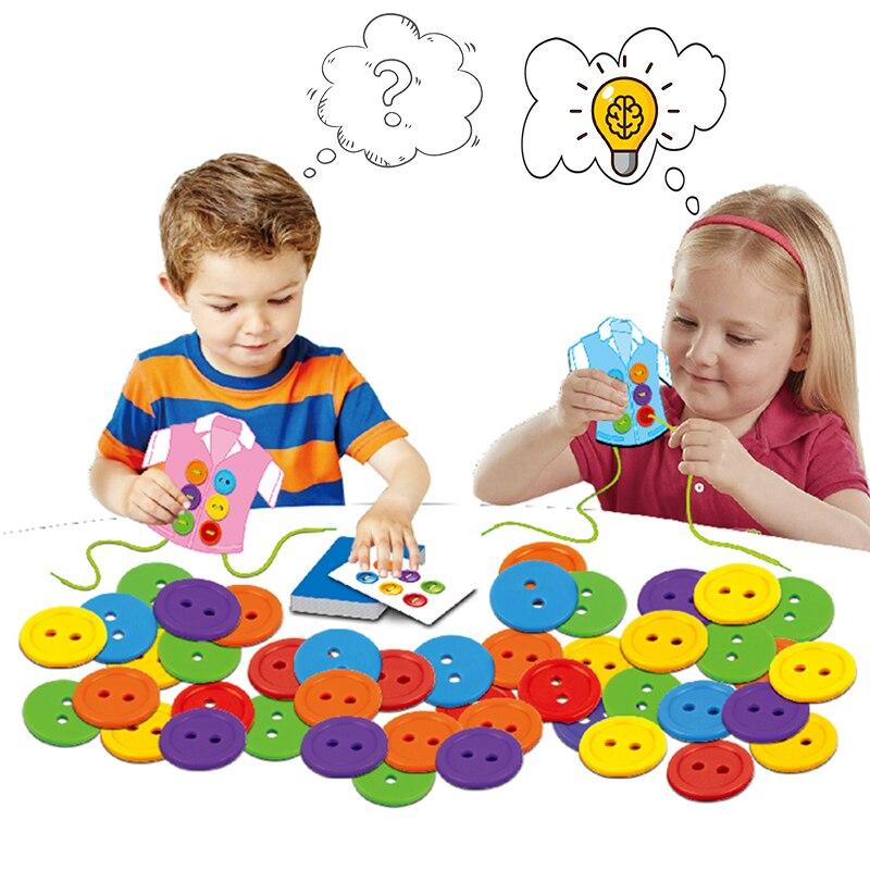 מונטסורי צעצועי בגדי כפתורים חכם מוח משחק למידה חינוכי בייבי ילדי ילדים בני בנות מתנת יום הולדת