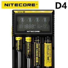 Оригинальное зарядное устройство Nitecore D4, интеллектуальная зарядка с ЖК-дисплеем для аккумуляторов 18650, 14500, 16340, 26650, зарядное устройство 12 В д...