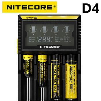 Oryginalna ładowarka Nitecore D4 LCD inteligentne ładowanie 18650 14500 16340 26650 baterie 12V ładowarka na baterie AA AAA tanie i dobre opinie CN (pochodzenie) Electric Standard Battery