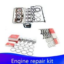NEW Engine Piston Ring Cylinder Gasket Bearing Shell Repair Kit For Audi A3 A4 A6 TT VW Golf Beetle Jetta Passat 1.8T 06B107065N 20pcs kit cam follower hydraulic lifters for audi a3 a4 a6 tt 1 8t dohc 20v