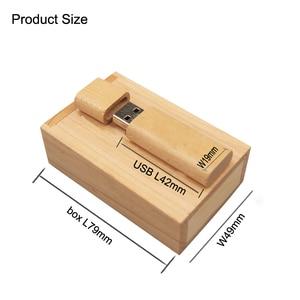 Image 5 - Usb2.0 אישית לוגו 10 Pcs משלוח עץ USB + תיבת USB דיסק און קי 4gb 8gb 16gb 32gb עט כונן זיכרון USB כרטיס חתונה תמונה מתנות
