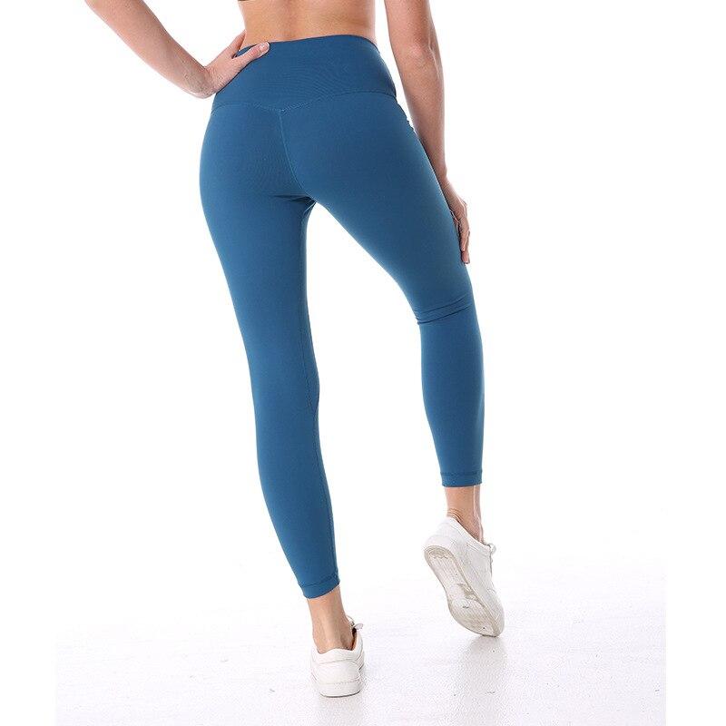 Eshtanga Sports tight Top Quality Women Yoga Tammy control capris leggings Solid Skinny 4-way Stretch pants Size XXS-XL