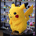 6600pcs Legoings Pikachu Building Model kits Creative Bricks Bulk Figures Educational Kids Toys brinquedos
