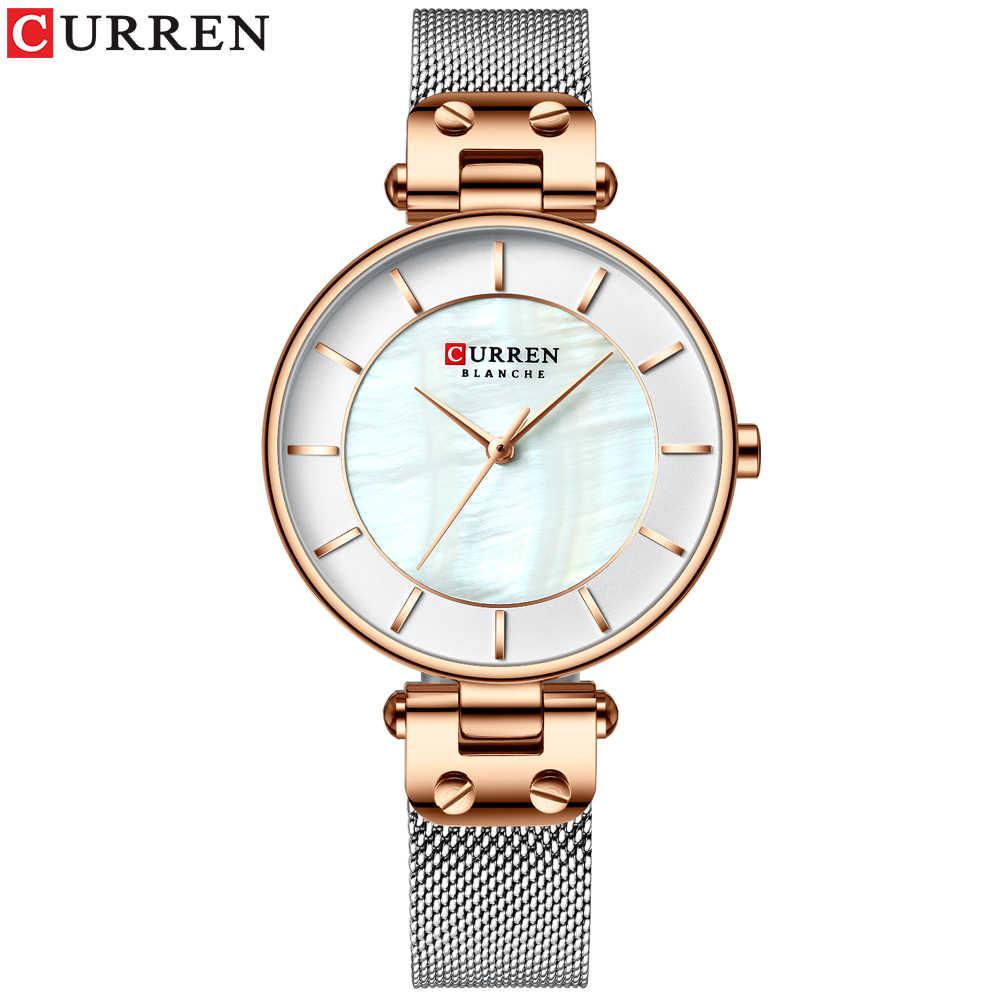 カレン腕時計女性高級ブランドレディースドレスクォーツ腕時計革防水女性腕時計ガール時計レロジオ Feminino