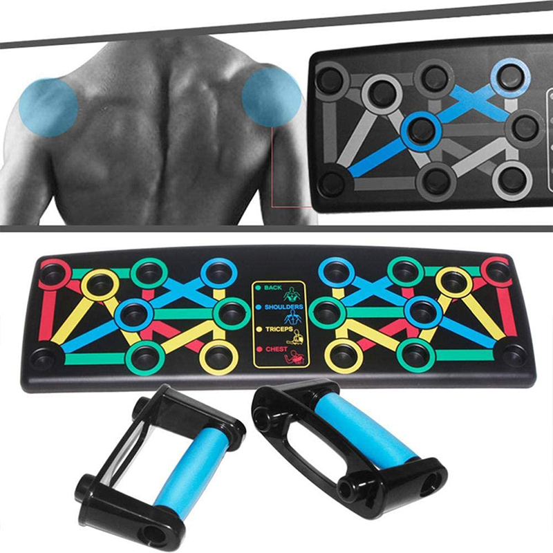 14-in-1 Multifunctional Push-up Board With Resistance Band Portable Bracket Board Fitness Exercise Tool Push-up Stand Body Train