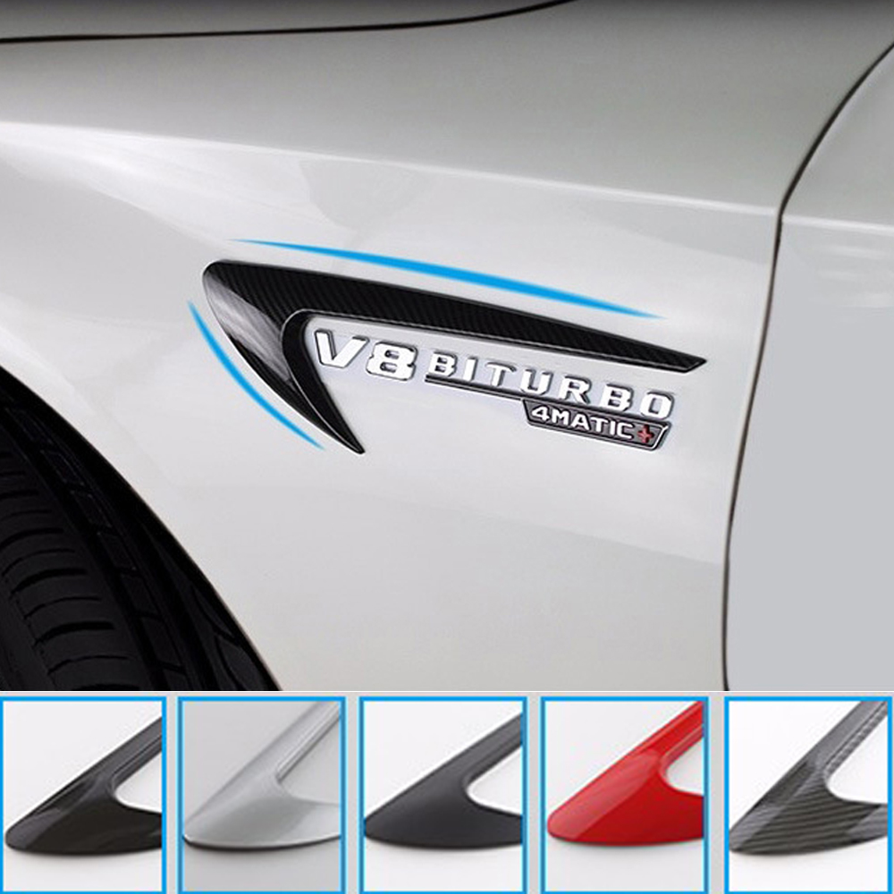 2pcs Air Vent Trim Side Fender Sticker for Mercedes Benz W212 E63 E300 W220 W221 W202 W204 W205 C260L CLA CLS AMG Sticker Decal
