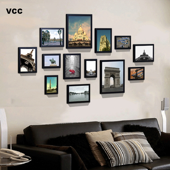 13Pcs/Set Wood Picture Frames For Wall Hanging, Photo Frame Wall With Picture Classic Wooden Frame For Home Decor