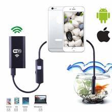 купить WIFI Endoscope Camera Mini Waterproof Soft Cable Inspection Camera 8mm USB Endoscope Borescope Android IOS Endoscope For Iphone дешево