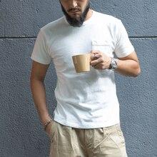 タイヤブロンソン固体ポケットtシャツ運動フィット男性のクルーネックtシャツ