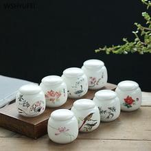 1 шт. сокровище белый фарфор дома Ganoderma lucidum чай кофе в зернах печенье конфеты закупориваемая банка таблетки порошок керамическая емкость бак