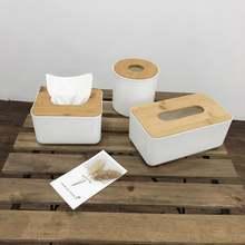 Круглый держатель для салфеток дома кухни деревянная пластиковая