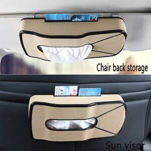 Image 5 - Criativo esportes forma do carro couro tecido bbox sun visor titular assento de volta pendurado pater toalha caso saco de armazenamento cartão de visita clipe