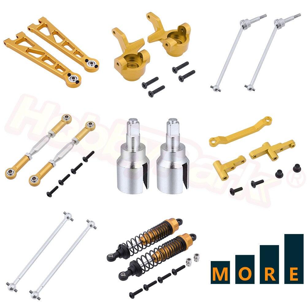 Metal Aluminum Upgrade Parts Replacement For 1:10 Electric Himoto E10XT E10XTL E10MT E10MTL Hop-Ups Gold Yellow