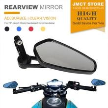 Universal espelho retrovisor da motocicleta lado guiador barra end espelhos moto bicicleta elétrica scooter moto acessórios