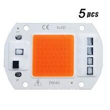 5 шт светодиодный фитолампа cob полный спектр ac 220 В 10 Вт