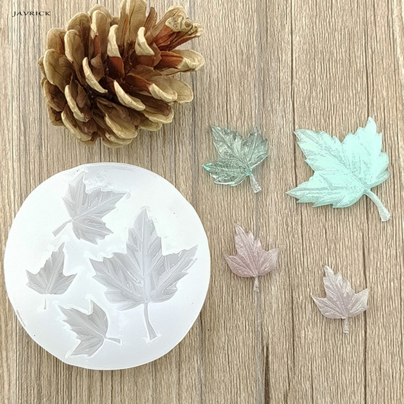JAVRICK Maple Leaf DIY Silicone Mold Craft Mould Resin Necklace Jewelry Pendant Making