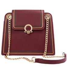 цены на new Woman Bags Luxury Handbags Women Messenger Bags Cover chain Bag Girls Fashion Shoulder Bag Ladies PU Leather Handbag red  в интернет-магазинах