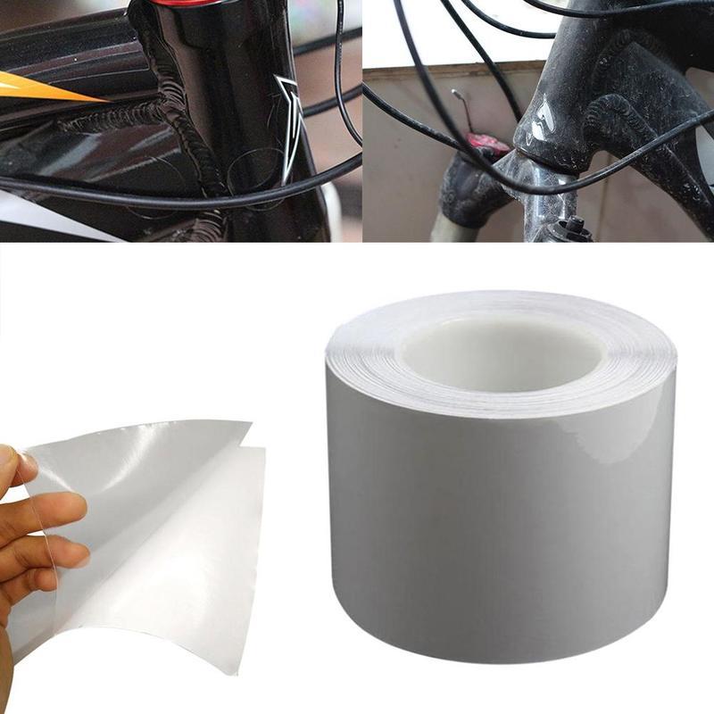 Vélo vélo cadre Protection autocollants bande 1M vélo vélo cadre protecteur clair usure Surface Transparent ruban Film outils