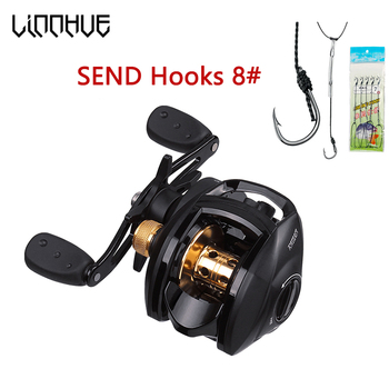 LINNHUE 8.1:1 High Speed Baitcasting Reel FO Casting Fishing Centrifugal Magnetic System MAX Drag 18LB Saltwater Fishing Reel saltwater high speed 18bb magnetic brake bait casting reel bass saltwater fishing reels