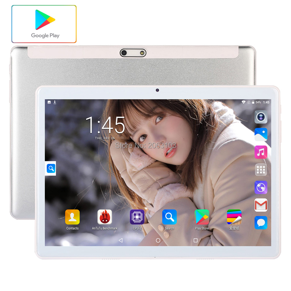 Newest 10.1 Inch Tablet Pc Android 7.0 96GB ROM 3G Phone Call Dual SIM Cards  WiFi GPS Bluetooth