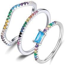 BISAER de Plata de Ley 925 radiante corazones orquídea radiante esmalte y cristales CERISE dedo anillos para las mujeres joyería de compromiso