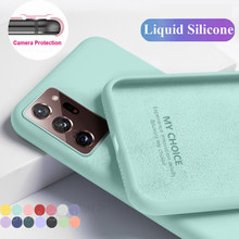 Funda de silicona líquida para móvil, carcasa Original de Color caramelo para Samsung S20 FE 5G S20 A51 A71 A21S A31, S21 Plus A52 A72 A12 A42 5G