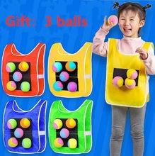 Gilet avec accessoires de sport en plein air, collant en Jersey, jeu, avec boules autocollantes, jouets de pour enfants