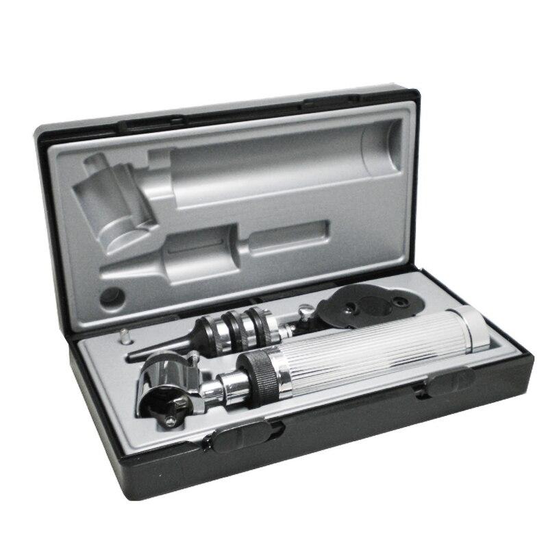 Clássico casa médica profissional direto otoscópio ophthalmoscope ent diagnóstico endoscópio conjunto para médico ouvido olho cuidados verificar
