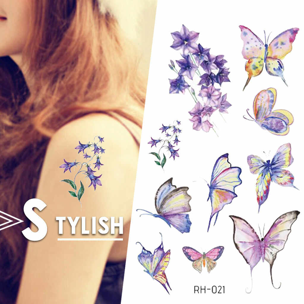 Tattoo Sticker 3d Butterfly Tattoo Color Flash Trendy Tattoo Waterproof Temporary Small Neck Hand Arm Shoulder Fake Tattoo Aliexpress,Master Bedroom Designs Indian Style