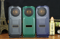 XP9000 4 SIM 플립 휴대 전화 Cectdigi 듀얼 손전등 긴 대기 전원 은행 핸드폰 시끄러운 음성 핸드폰 야외 전화