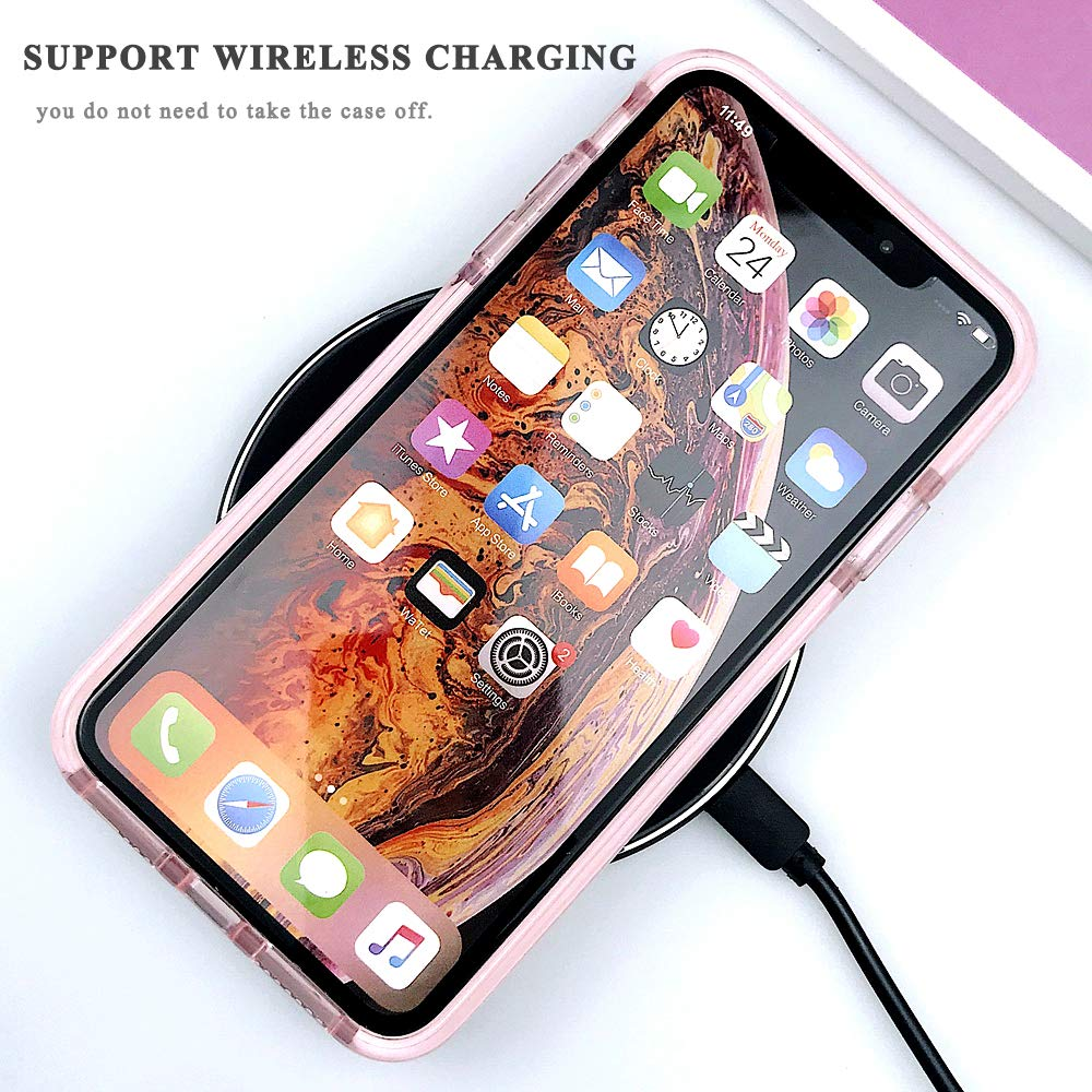 Soft TPU 3D Diamond Pattern Transparent Phone Case for iPhone With Full-Body Rugged Bumper 4
