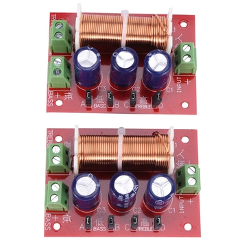 2Pcs 400W Speaker Crossover 2 Way o Adjustment Tweeter Bass Speakers Filter Frequency Divider for 2-16Ohm image