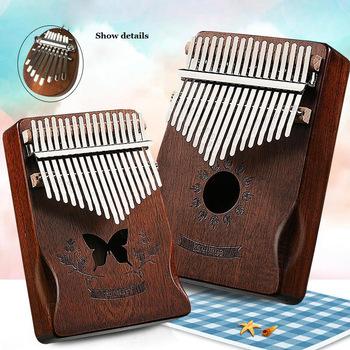 Kalimba 17 klucz palec kciuk fortepian pozytywka Mini dzieci Calimba Instrument muzyczny mahoń afrykański dla dzieci kciuk fortepian tanie i dobre opinie CN (pochodzenie) Beginner Grand Piano G49235 Kompozyty Z litego drewna 11