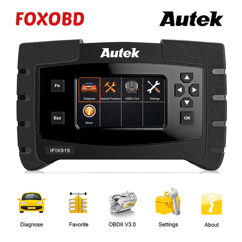 ODB Scanner Autek IFIX919 OBD2 Scanner Automotive Full System Car Diagnostic Tool Engine ABS Airbag SAS Gearbox