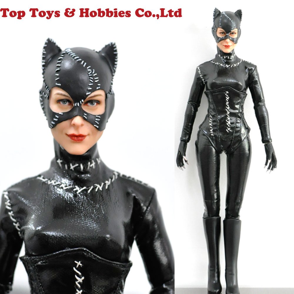 1//6 Scale Leather Outfits Sets with Accessories for 12/'/' Female Joker Harley