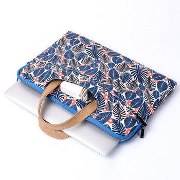 Laptop Briefcase Computer Bag Ultrathin Canvas Printing Flower Chinese Style Laptop Bag For Macbook Pro Air Unisex Handbag