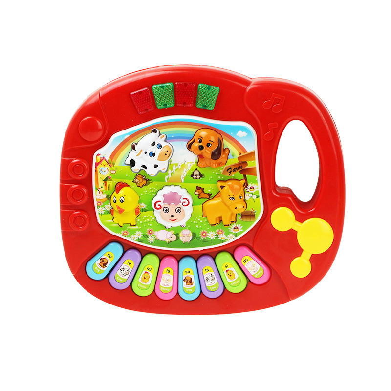 Cross Border Children Sound And Light Music Electronic Keyboard Animal Sound Music Drum Rattle Mom And Baby Yi Intellectual Amaz