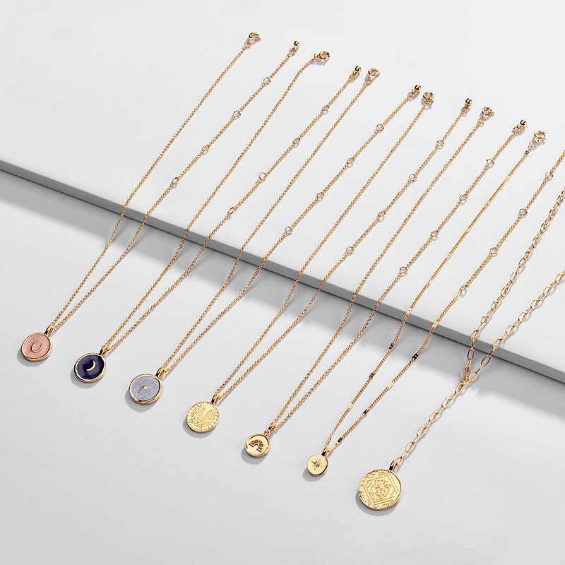 Yeni moda yaz emaye zarif zincir kolye narin katmanlı kolye kadınlar için