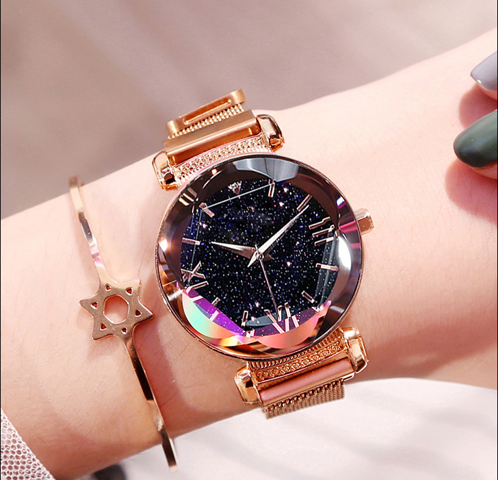 2019 Luxury Women Watches Magnetic Starry Sky Ladies Watch Quartz Wristwatch Dress Female Clock Relogio Feminino Free Shipping