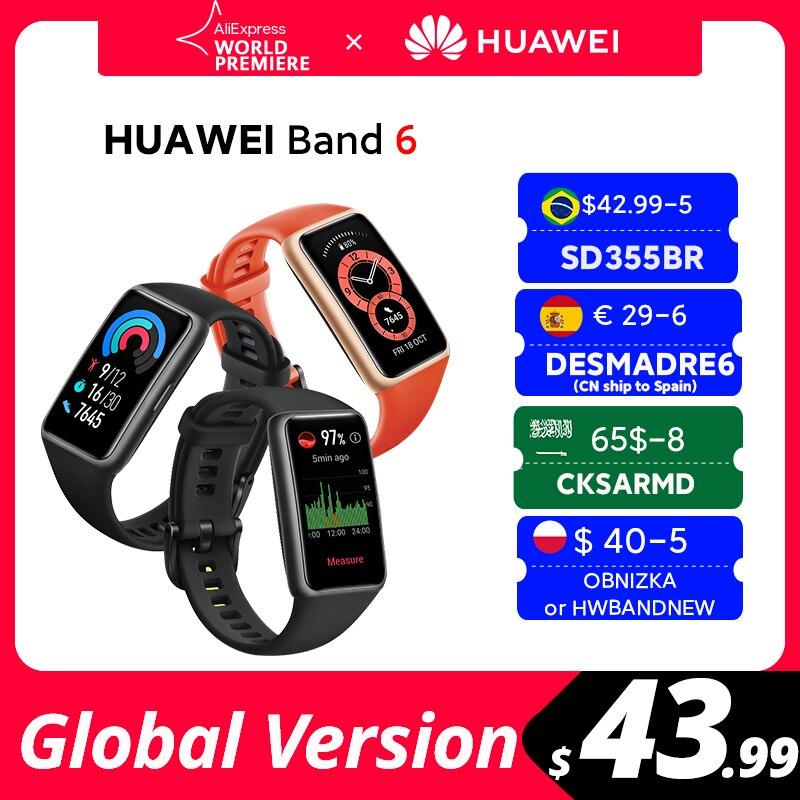 [Мировая премьера] В наличии глобальная версия браслете Huawei Band 6 Smartband крови кислородом 1,47 ''AMOLED сердечного ритма трекер монитор наблюде…