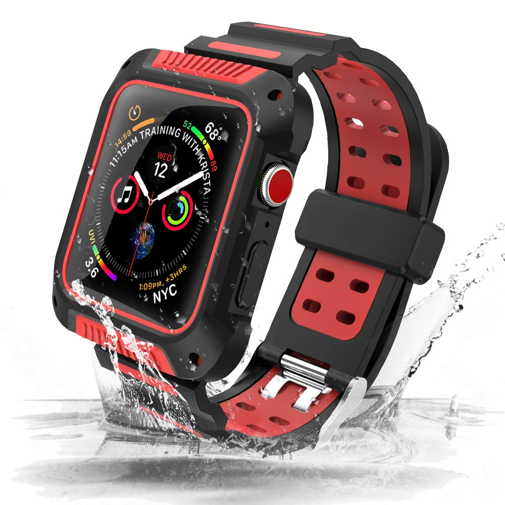 Shock-Proof & Shatter-Resistant Silicone Sport Band For Apple Watch 5 Band 44mm 40mm Case+Strap Suit For Iwatch Series 4 40/44mm