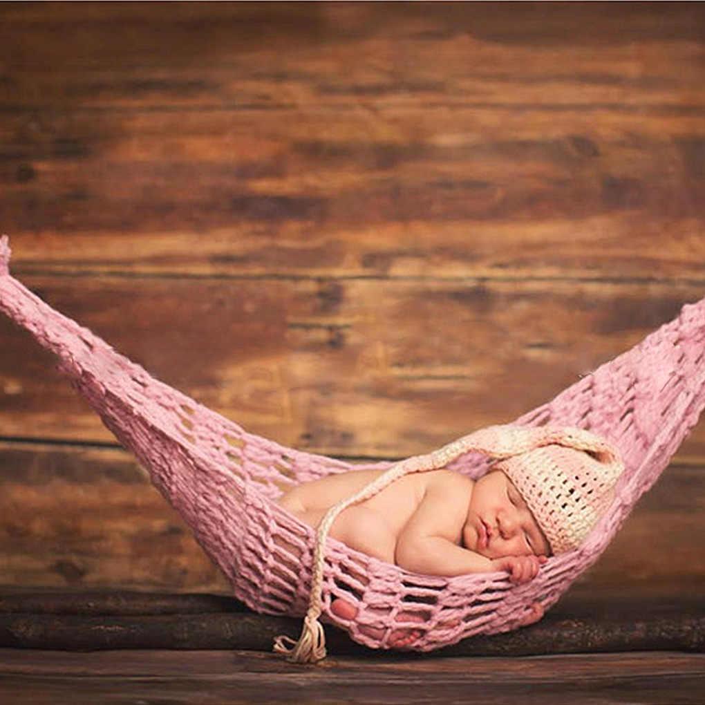 Bayi Baru Lahir Fotografi Alat Peraga Merenda Hammock Bayi Bayi Gantung Cocoon Pemotretan Rajutan Tempat Tidur Gantung