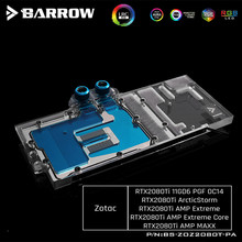 ZOTAC GAMING GeForce RTX 2080 Ti AMP 익스트림 코어 VGA 블록 5V 3 핀 LRC2.0 BS ZOZ2080T PA 용 Barrow Full Cover GPU 워터 블럭