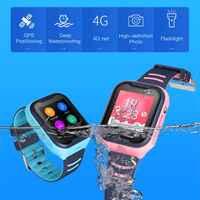 Inteligentny zegarek 4G dla dzieci z ekranem dotykowym GPS SOS SIM połączenie telefoniczne wodoodporny zegarek dla dzieci z aparatem LEMFO zegarek dla dzieci e