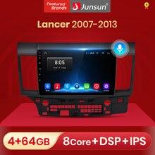 Junsun 4G + 64G 안드로이드 10 미쓰비시 랜서 2007   2013 자동 2 딘 자동차 라디오 스테레오 플레이어 블루투스 GPS 아니오 2din dvd