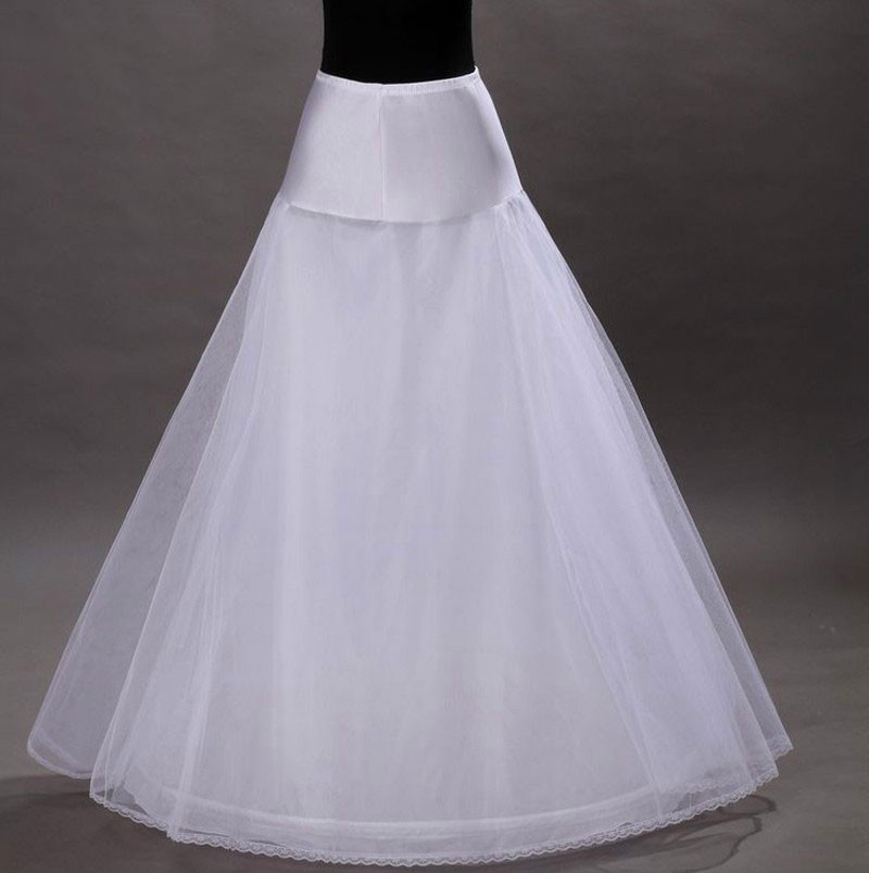 Bridal Slips Wedding Underskirt White Underdress  Long   A Line Petticoat Layer