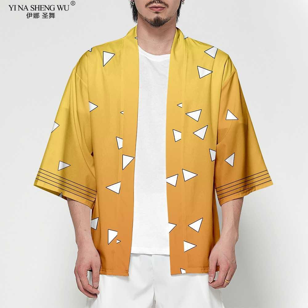 Аниме Demon Slayer Kimetsu No Yaiba Tanjiro Kamado костюм для косплея для мужчин Кимоно размера плюс куртки для Хэллоуина вечерние для женщин хит продаж