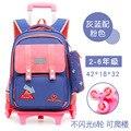 Съемные школьные сумки 2/6 рюкзак на колесиках для девочек и мальчиков водонепроницаемый рюкзак на колесиках детский школьный рюкзак сумка ...