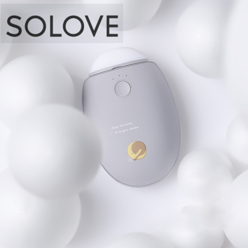 SOLOVE N2-S 3 In 1 Winter Heater USB Rechargeable Hand Warmer 2960mAh Power Bank For Camping Flashlight