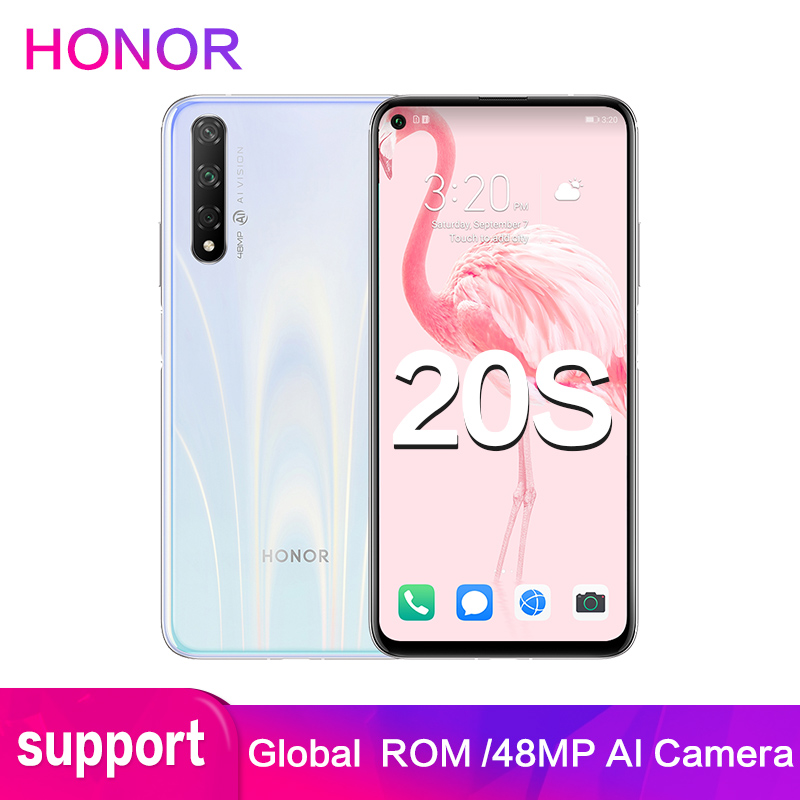 Honor 20s 6GB 8GB 128GB Global ROM Support Google Software 48MP 32MP Rear 3 Camera 2340x1080P Full Screen Smart Mobile Phone